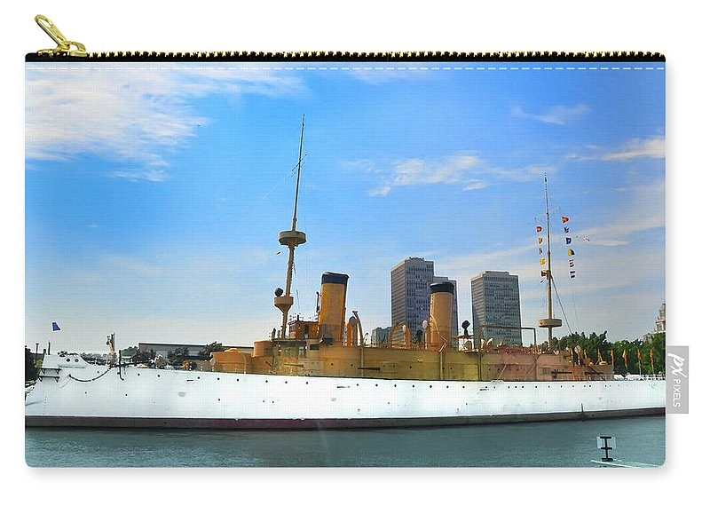 Spanish American War Carry-all Pouch featuring the photograph Uss Olympia by Bill Cannon