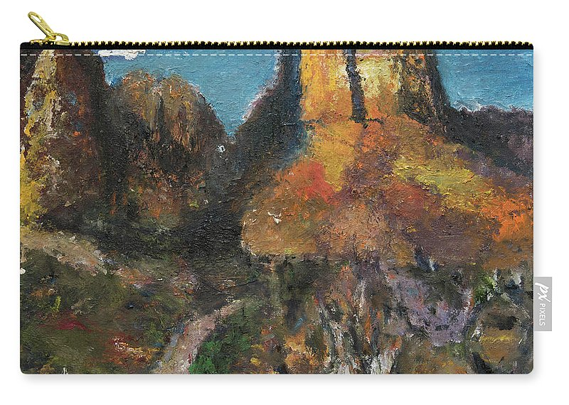 Utah Carry-all Pouch featuring the painting Utah Canyon by Craig Newland