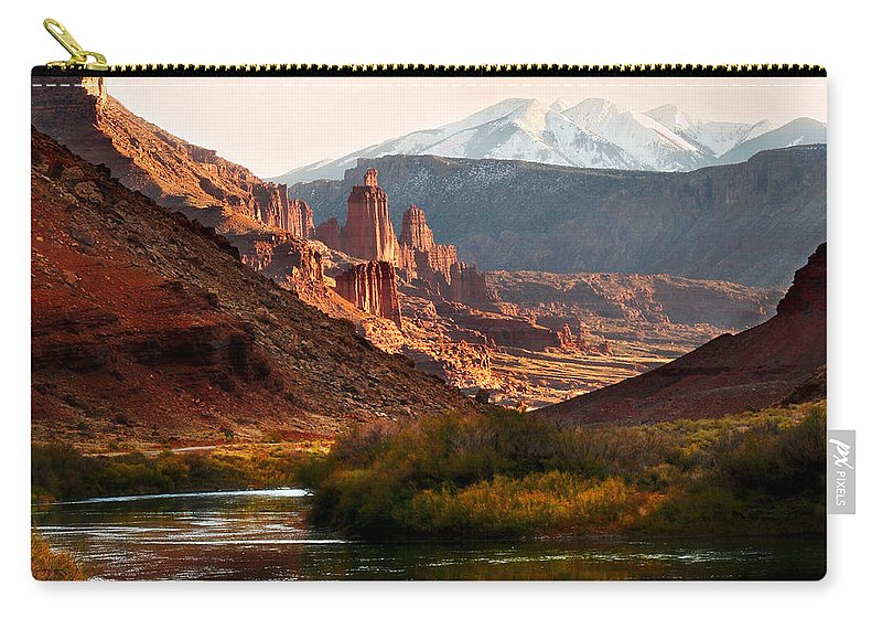 Geology Carry-all Pouch featuring the photograph Utah Colorado River Spires by Marilyn Hunt