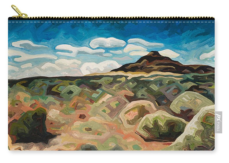 Landscape Carry-all Pouch featuring the painting Utah Hill #6 by Dale Beckman