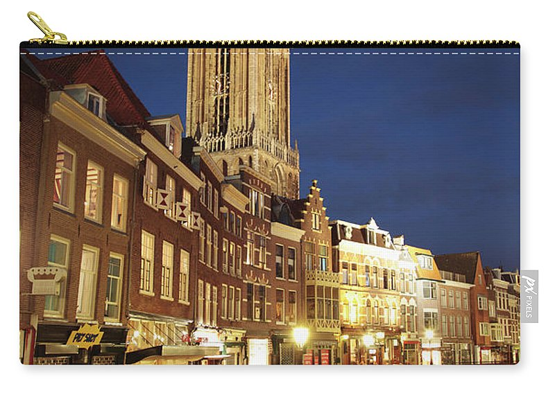 Utrecht Carry-all Pouch featuring the photograph Utrecht Cathedral At Night by Neil Overy