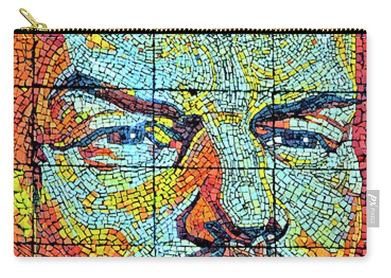 Soviet Union Carry-all Pouch featuring the digital art V. I. Ulyanov. Mosaic. Sochi Park. by Andy Za