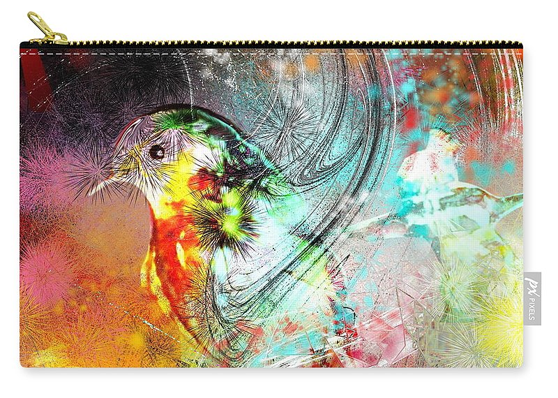 Bird Carry-all Pouch featuring the painting Vagabond by Miki De Goodaboom
