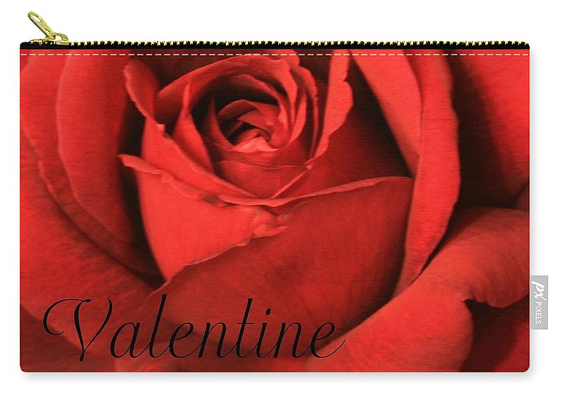 I Love You Carry-all Pouch featuring the photograph Valentine by Marna Edwards Flavell
