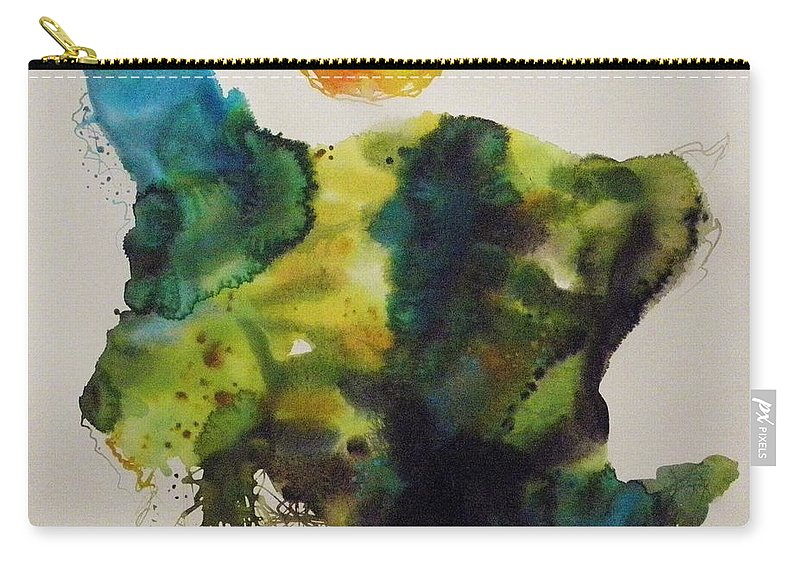 Valley Farmland Carry-all Pouch featuring the painting Valley Farmland by John Williams
