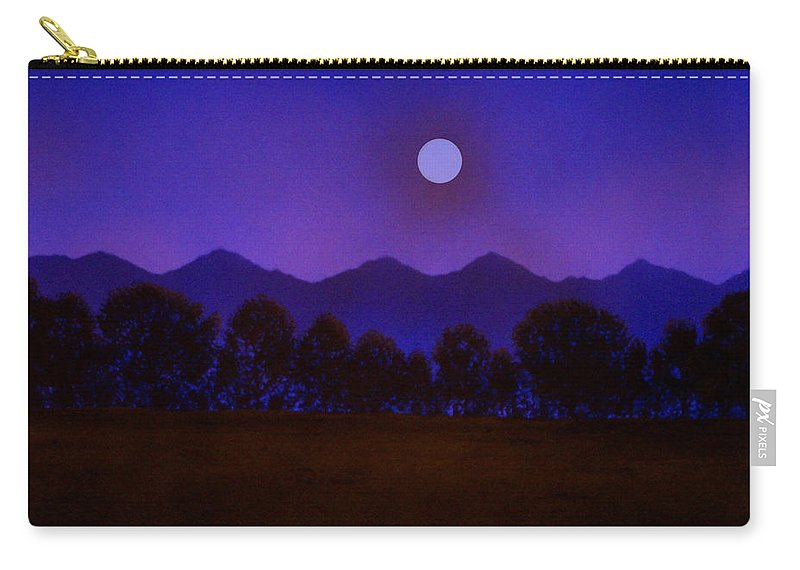 Night Carry-all Pouch featuring the painting Valley Light by Frank Wilson