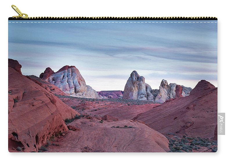 Nature Carry-all Pouch featuring the photograph Valley Of Fire Sunset by Matt Fornear