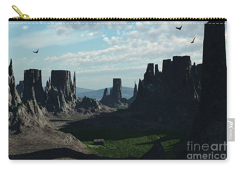 Valley Carry-all Pouch featuring the digital art Valley Of The Kings by Richard Rizzo