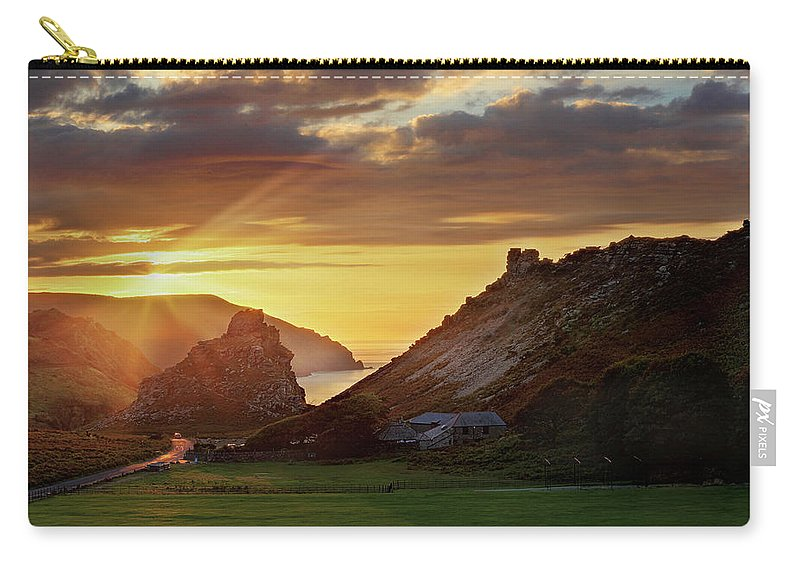 Valley Of The Rocks Carry-all Pouch featuring the photograph Valley Of The Rocks by Ceri Jones