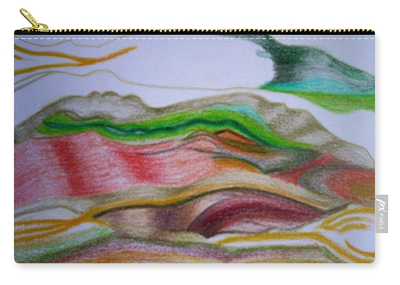 Abstract Carry-all Pouch featuring the painting Valley Stream by Suzanne Udell Levinger
