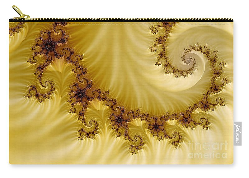 Clay Carry-all Pouch featuring the digital art Valleys by Clayton Bruster