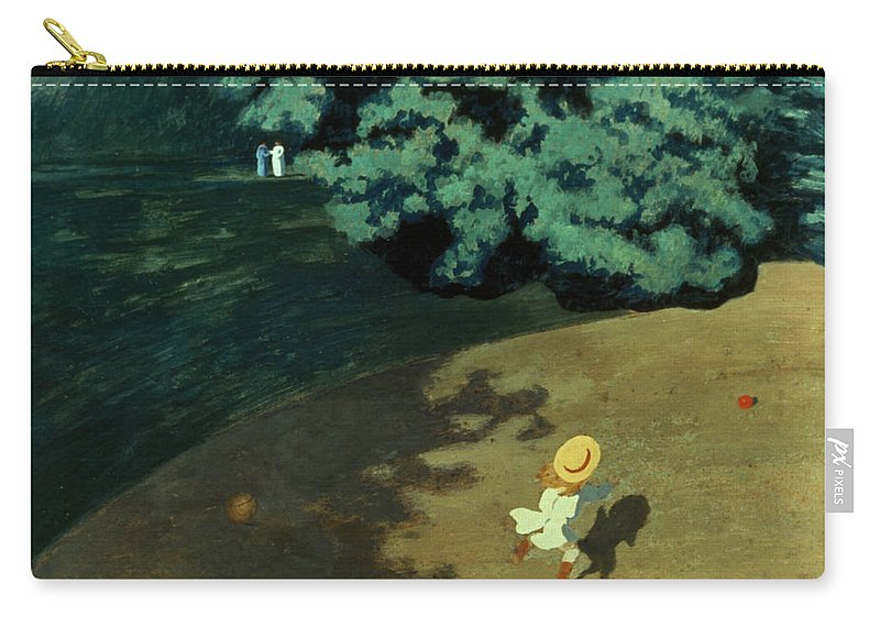 1899 Carry-all Pouch featuring the photograph Valloton: Balloon, 1899 by Granger