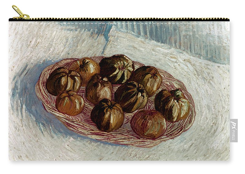 1887 Carry-all Pouch featuring the photograph Van Gogh: Apples, 1887 by Granger