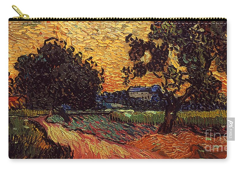 1890 Carry-all Pouch featuring the photograph Van Gogh: Castle, 1890 by Granger