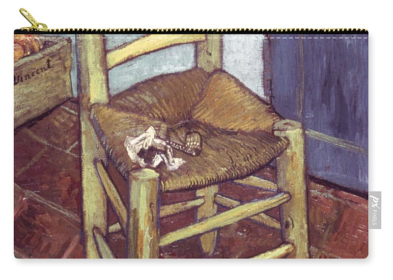 1888 Carry-all Pouch featuring the photograph Van Gogh: Chair, 1888-89 by Granger