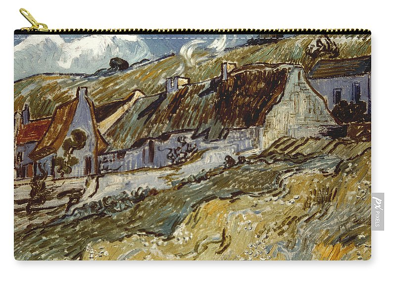 1890 Carry-all Pouch featuring the photograph Van Gogh: Cottages, 1890 by Granger