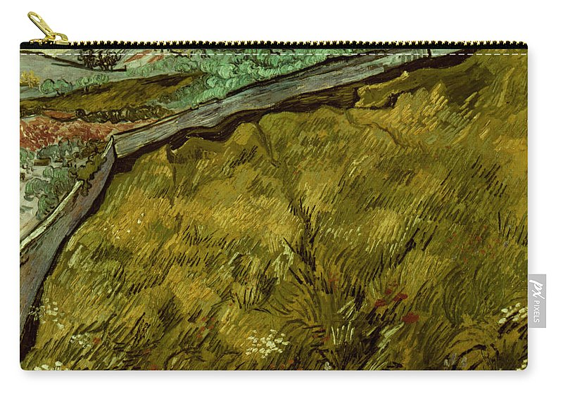 1890 Carry-all Pouch featuring the photograph Van Gogh: Field, 1890 by Granger