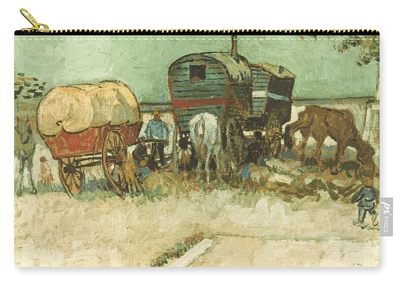 1888 Carry-all Pouch featuring the photograph Van Gogh: Gypsies, 1888 by Granger