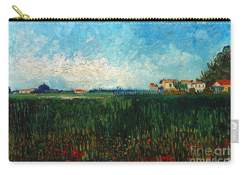 1888 Carry-all Pouch featuring the photograph Van Gogh: Landscape, 1888 by Granger