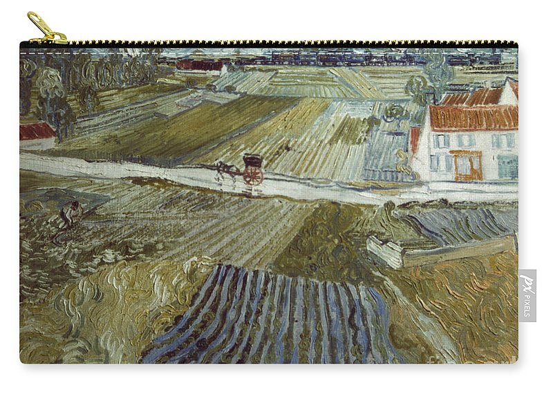 1888 Carry-all Pouch featuring the photograph Van Gogh: Landscape, C1888 by Granger