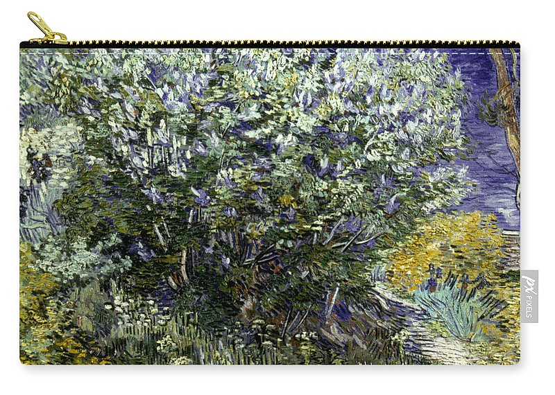 19th Century Carry-all Pouch featuring the photograph Van Gogh: Lilacs, 19th C by Granger