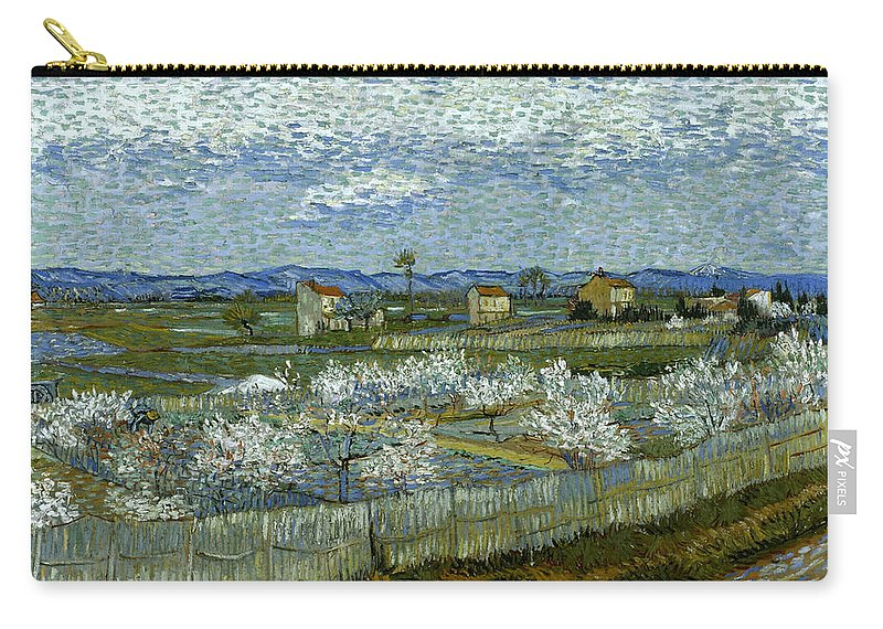 1889 Carry-all Pouch featuring the photograph Van Gogh: Peach Tree, 1889 by Granger