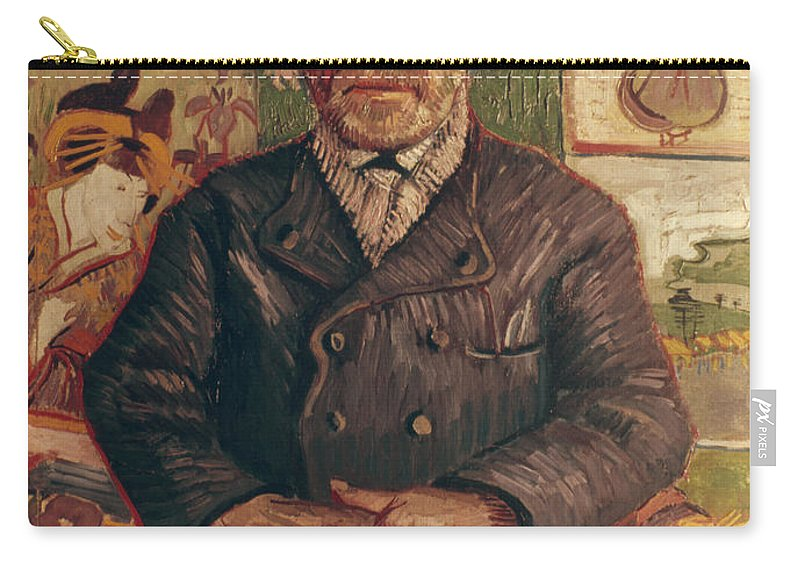 1887 Carry-all Pouch featuring the photograph Van Gogh: Pere Tanguy, 1887 by Granger