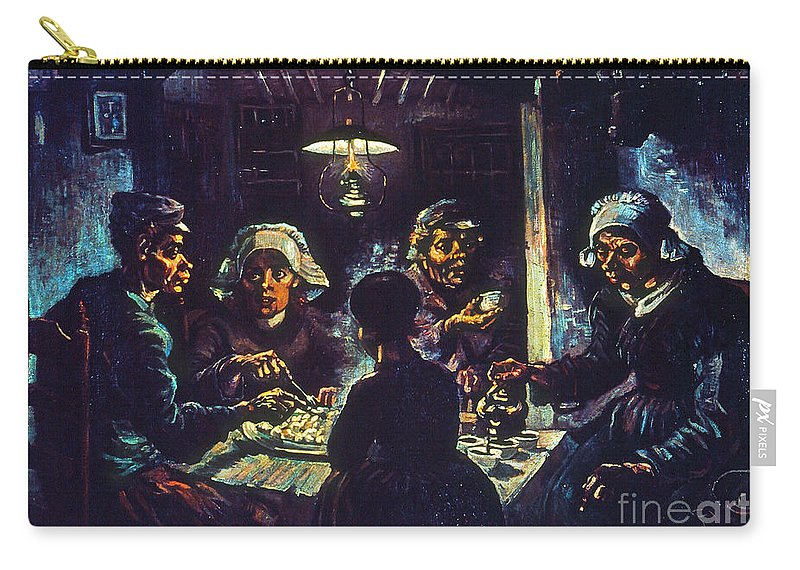 1885 Carry-all Pouch featuring the photograph Van Gogh Potato Eaters by Granger