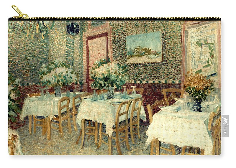 1887 Carry-all Pouch featuring the photograph Van Gogh: Restaurant, 1887 by Granger