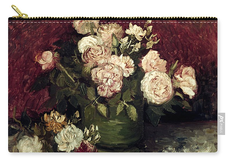 1886 Carry-all Pouch featuring the photograph Van Gogh: Roses, 1886 by Granger