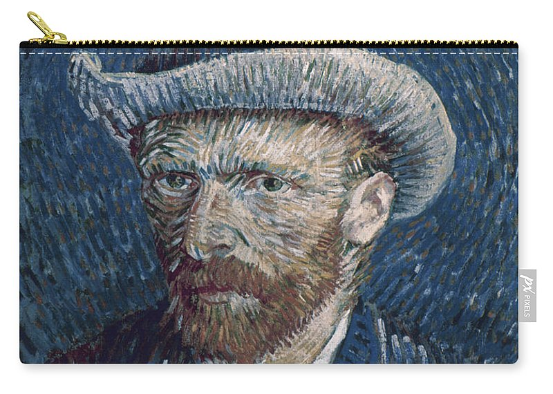1887 Carry-all Pouch featuring the photograph Van Gogh: Self-portrait by Granger