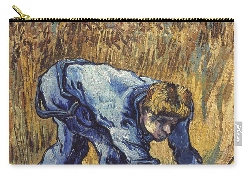 1889 Carry-all Pouch featuring the photograph Van Gogh: The Reaper, 1889 by Granger
