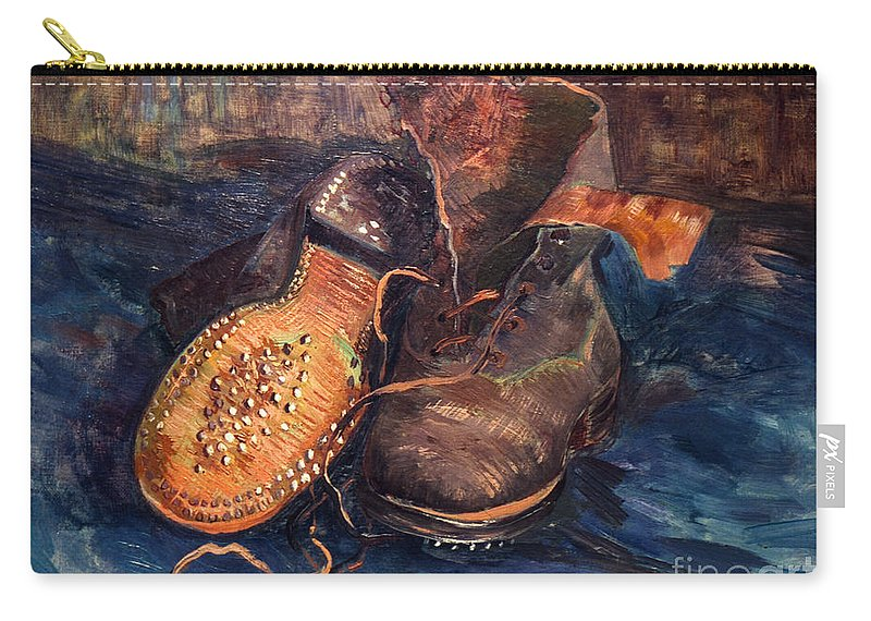 1887 Carry-all Pouch featuring the photograph Van Gogh: The Shoes, 1887 by Granger