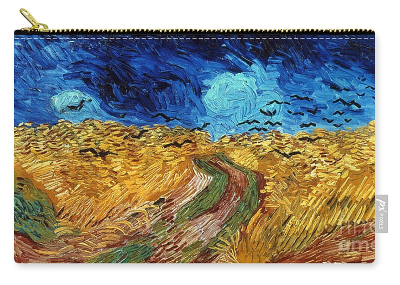 1890 Carry-all Pouch featuring the photograph Van Gogh: Wheatfield, 1890 by Granger