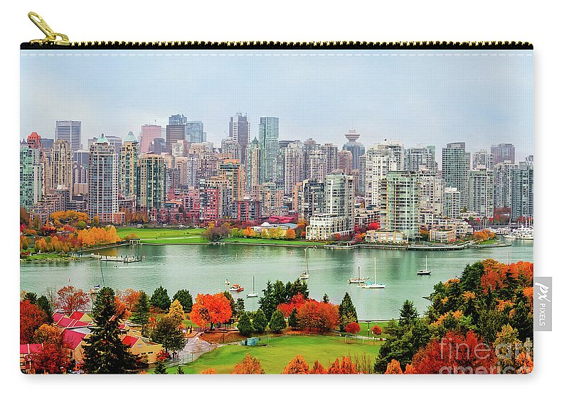 Vancouver Carry-all Pouch featuring the photograph Vancouver After The Rain by Viktor Birkus