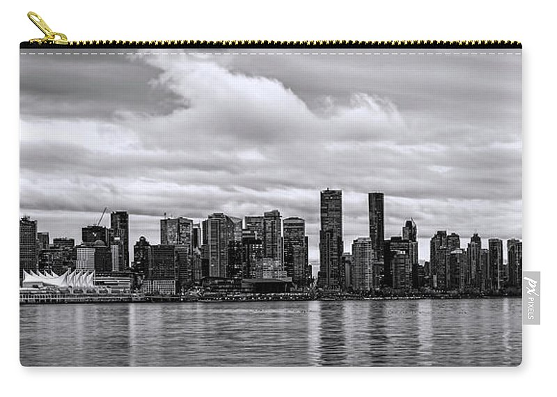 Vancouver Carry-all Pouch featuring the photograph Vancouver In Black And White. by Viktor Birkus