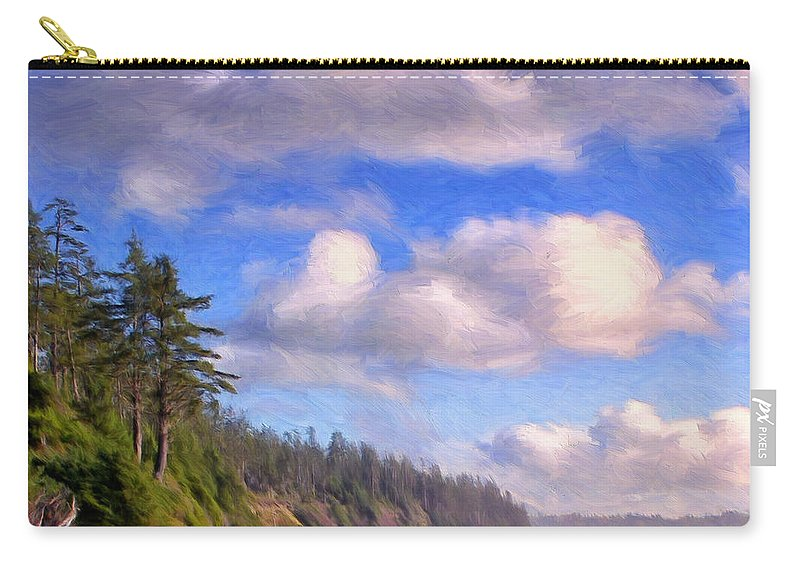 Vancouver Island Carry-all Pouch featuring the painting Vancouver Island by Dominic Piperata