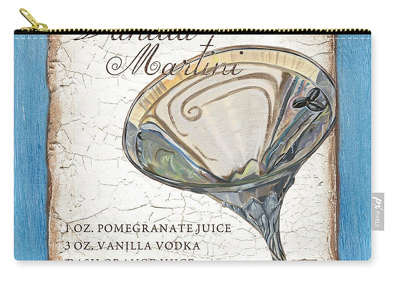 Martini Carry-all Pouch featuring the painting Vanilla Martini by Debbie DeWitt