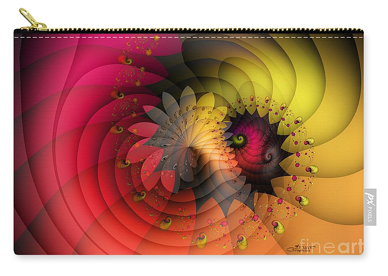 Fractal Carry-all Pouch featuring the digital art Vanishing by Jutta Maria Pusl