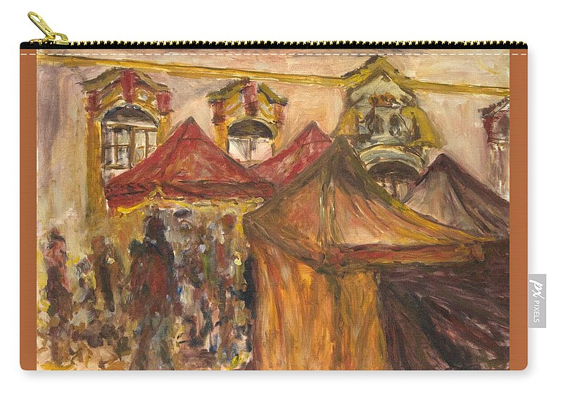 Landscape Carry-all Pouch featuring the painting Vanocni Trh by Pablo de Choros