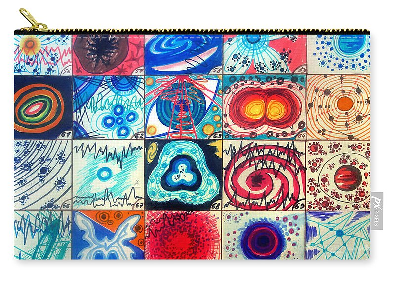 Space Carry-all Pouch featuring the drawing Variety Of Space Galaxies Stars Anomalies. Part 3 by Sofia Metal Queen