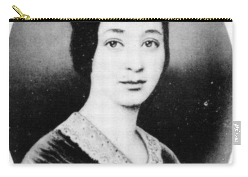 1845 Carry-all Pouch featuring the photograph Varina Howell Davis (1826-1906) by Granger