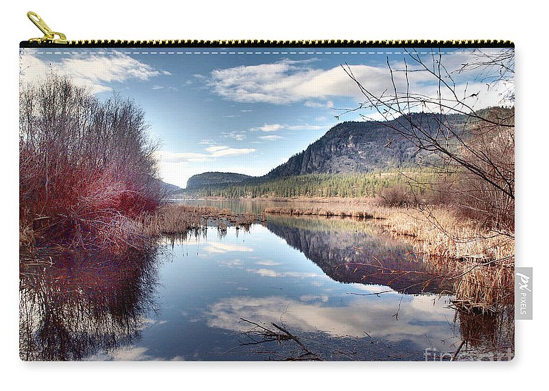 Reflections Carry-all Pouch featuring the photograph Vaseux Reflections by Tara Turner