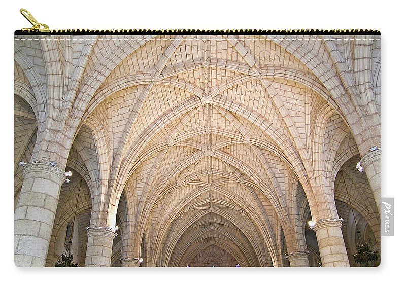 Dominican Carry-all Pouch featuring the photograph Vaulted Ceiling And Arches by Douglas Barnett