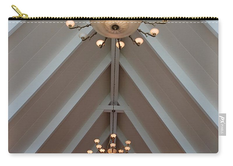Architecture Carry-all Pouch featuring the photograph Vaulted Lights by Rob Hans