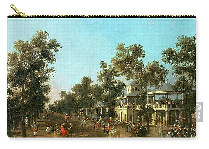 Vauxhall Gardens: The Grand Walk Carry-all Pouch featuring the painting Vauxhall Gardens The Grand Walk by Canaletto