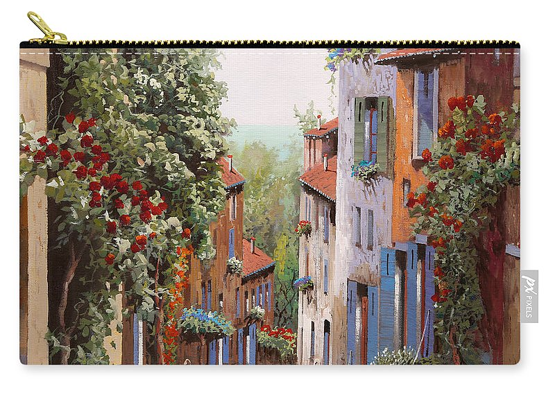 Old Cagnes Carry-all Pouch featuring the painting vecchia Cagnes by Guido Borelli