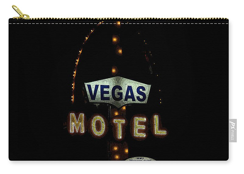 Art Carry-all Pouch featuring the painting Vegas Motel by David Lee Thompson