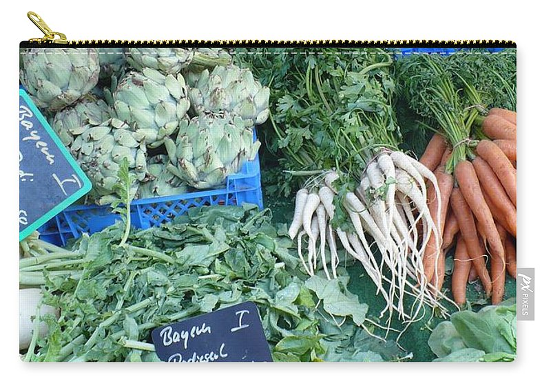 European Markets Carry-all Pouch featuring the photograph Vegetables At German Market by Carol Groenen