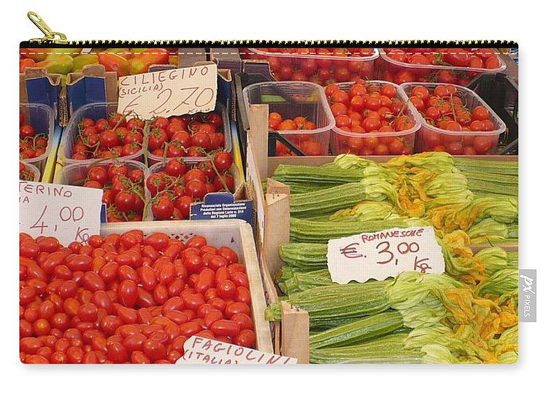 European Markets Carry-all Pouch featuring the photograph Vegetables At Italian Market by Carol Groenen